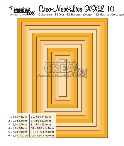 Crea-Nest-Lies XXL dies no. 10, Rectangles