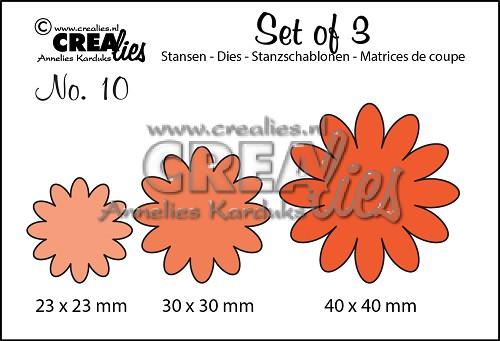 Set van 3 stansen no. 10, Bloemen 6