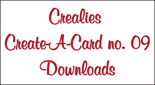Downloads Crealies Create A Card no. 09