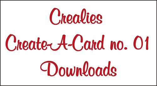 Downloads Crealies Create A Card no. 01