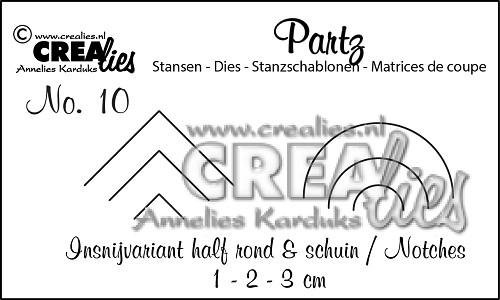 Partzz stansen no. 10, Insnijvariant half rond + half schuin