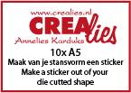 Maak van je stansvorm een sticker (10x A5 vel)
