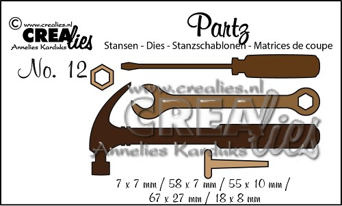 Partz stansen/dies no. 12, Klusgereedschap / Tools for men