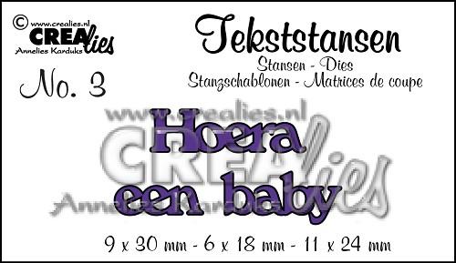 Tekststans no. 3 Hoera een baby