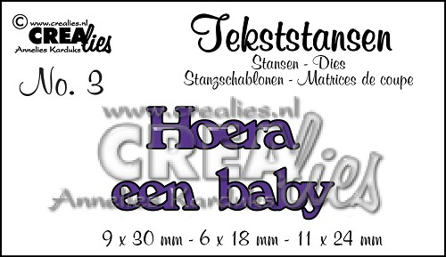 Text Dies no. 3 Hoera een baby