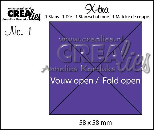 X-tra stans no. 1, Vouw Open 4 delen