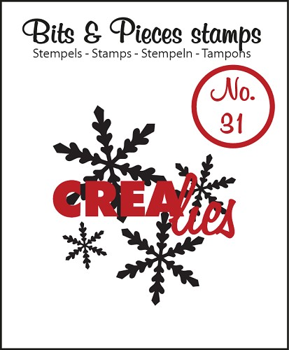Bits & Pieces stempel no. 31, Snowflake 1