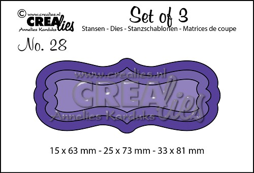 Set of 3 dies no. 28, Labels 2