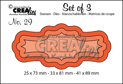 Set of 3 dies no. 29, Labels 3