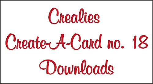 Downloads Crealies Create A Card no. 18