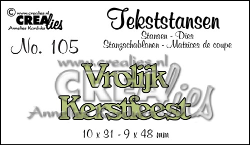 Text Dies no. 105 Vrolijk Kerstfeest