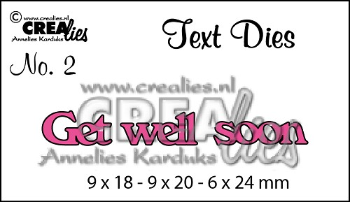 Text Die no. 2 Get well soon