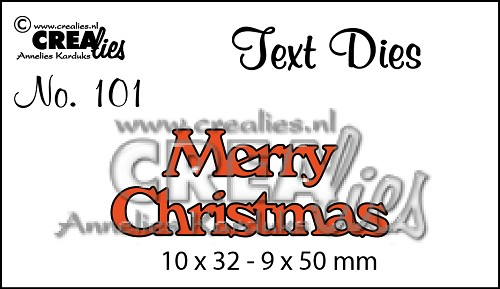 Text Die no. 101 Merry Christmas