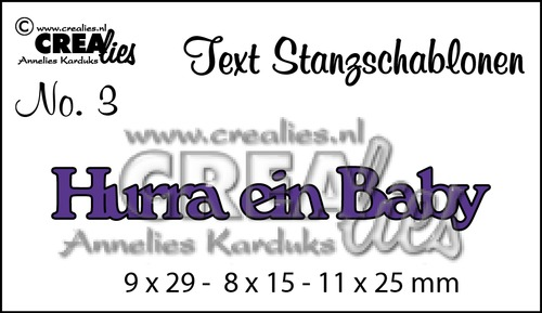 Text Stanzschablone no. 3 Hurra ein Baby
