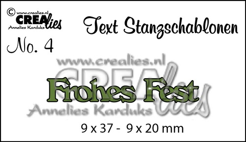 Text Stanzschablone no. 4 Frohes Fest