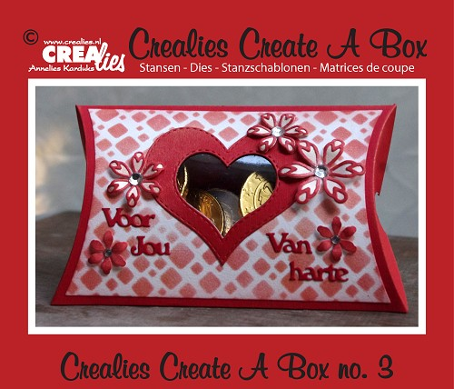 Crealies Create A Box die no. 3, Pillowbox
