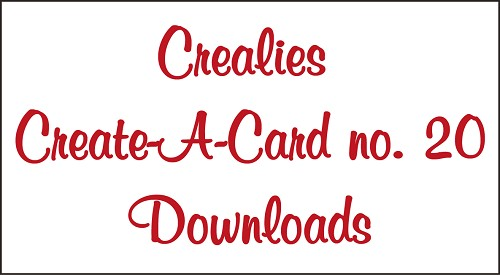 Downloads Crealies Create A Card no. 20