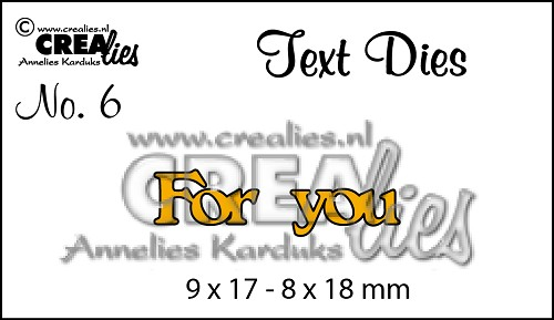 Text Die no. 06 For You