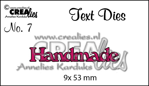 Text Die no. 07 Handmade