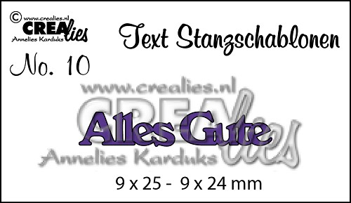 Text Stanzschablone no. 10 Alles Gute