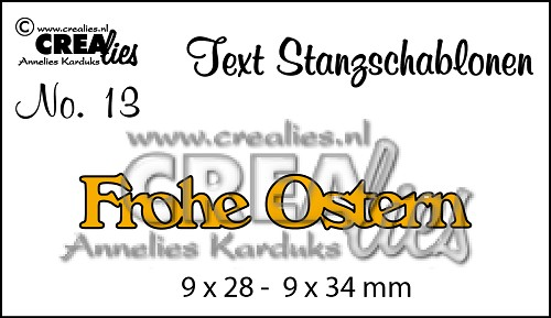 Text Stanzschablone no. 13 Frohe Ostern