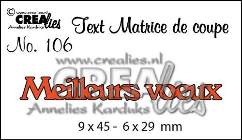 Matrice De Coupe Texte No 106 Meilleurs Voeux