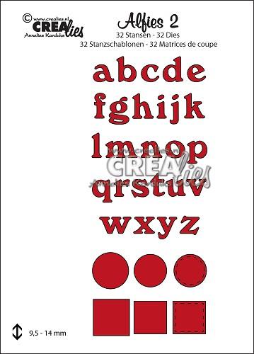 Alfies stansset no. 2, Kleine letters