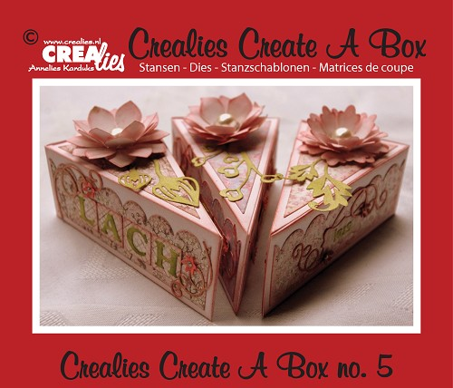 Crealies Create A Box stans no. 5, Taartpunt