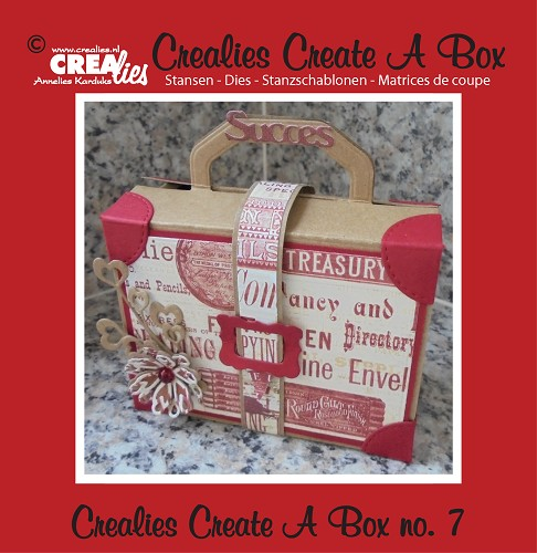 Crealies Create A Box stans no. 7, Koffertje