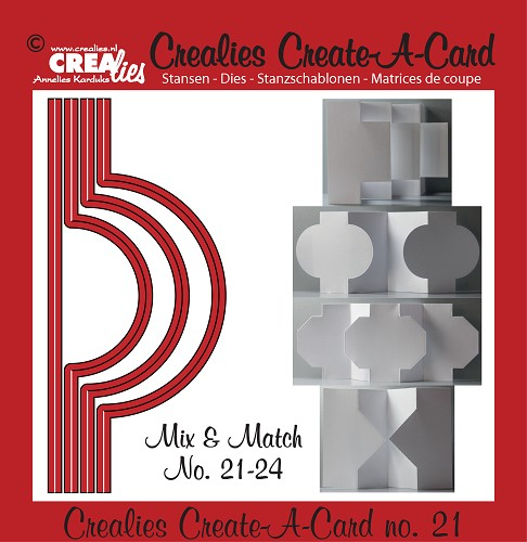 Crealies Create A Card stansen no. 21