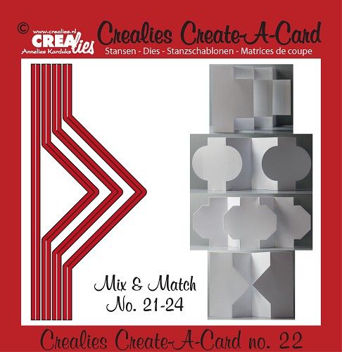 Crealies Create A Card stansen no. 22