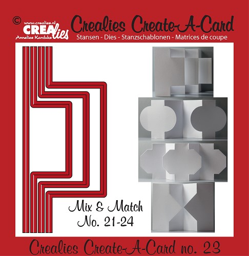 Crealies Create A Card stansen no. 23