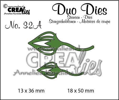 Duo Dies no. 32A, Blaadjes 2 spiegelbeeldig