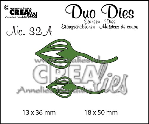 Duo Dies no. 32A, Leaves 2 mirror image