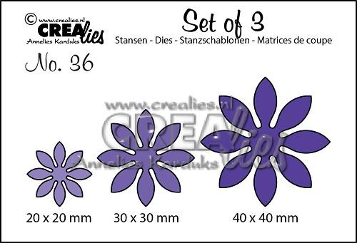 Set van 3 stansen no. 36, Bloemen 18