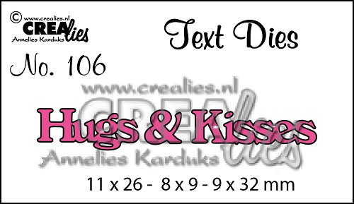Text Die no. 106 Hugs & Kisses