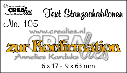 Text Stanzschablone no. 105 zur Konfirmation