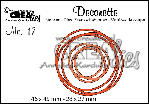 Decorette stans/die no. 17, Verstrengelde cirkels / Intertwined Circles