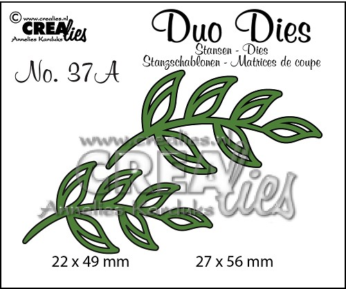 Duo Dies no. 37A, Leaves 5 mirror image