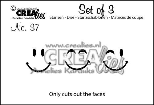 Set van 3 stansen no. 37, Gezichtjes