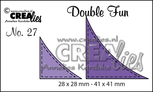 Double Fun dies no. 27, Corners with stitchline