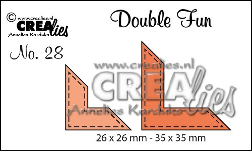 Double Fun dies no. 28, Corners with stitchline