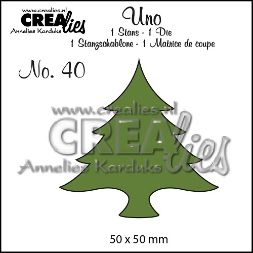Uno die no. 40, Christmas tree wide