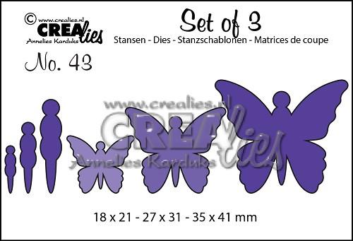 Set van 3 stansen no. 43, Vlinders 5