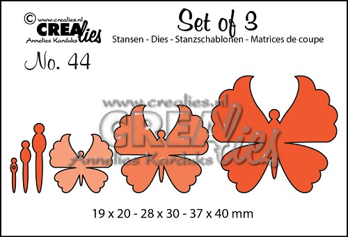Set of 3 dies no. 44, Butterflies 6