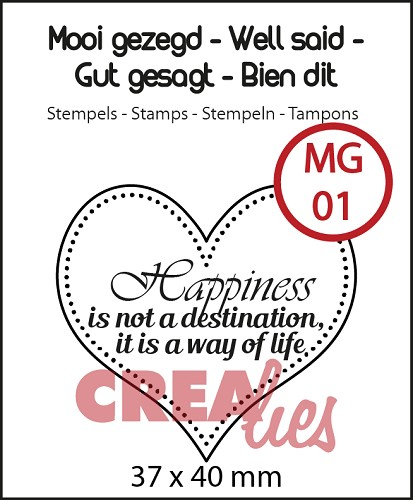 Mooi gezegd / Well said stempel/stamp no. 1