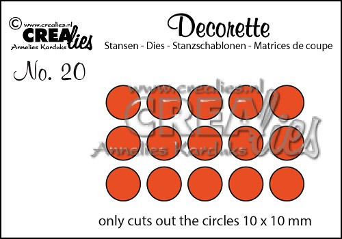Decorette die no. 20, Only circles