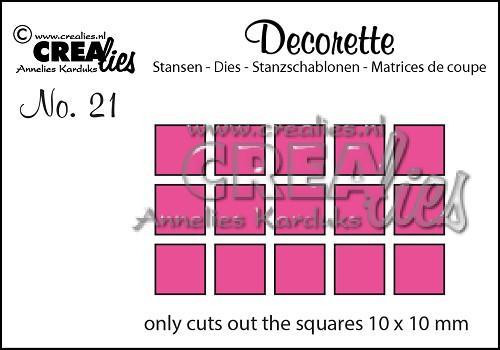 Decorette stans no. 21, Alleen vierkantjes