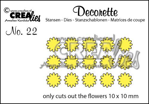 Decorette stans no. 22, Alleen bloemetjes