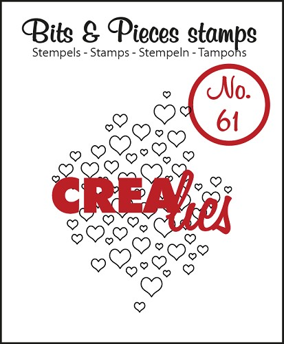 Bits & Pieces stempel/stamp no. 61 Open hearts